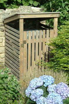 Wooden Wheelie bin storage at Garden Trading