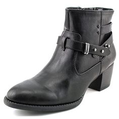 White Mountain Rotary Women Round Toe Synthetic Black Ankle Boot Nwob
