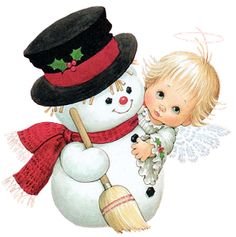 Ruth Morehead: Snowman and Angel