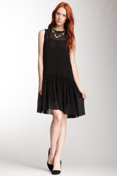 Bellmar Georgette Ruffle Trim Dress