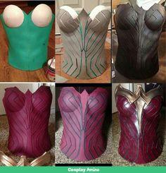Wonder Woman foam corset!
