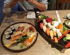 Eating Sushi :) #sushi #sashimi #seaurchin #미국유학생 #일식 #日本菜 by avidtraveler555