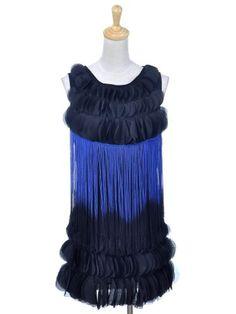 Anna-Kaci S/M Fit Black and Blue Fringe Flapper « Impulse Clothes