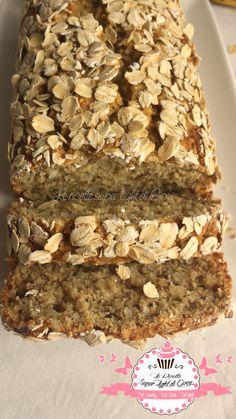 Banana Bread light all'avena e mandorle (96 calorie a fetta) | Le Ricette Super Light Di Giovi