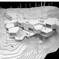 Module Architecture, Architecture Presentation Board, Architecture Concept Drawings, Architecture Sketchbook, Architecture Details, Bilbao, Module Design, Landscape Model, Arch Model