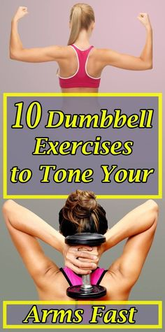 10 Dumbbell Exercises to Tone Your Arms Fast - Living Well With Oliver Senior Fitness, Fitness Tips, Health Fitness, Home Exercise Routines, Yoga Routine, Gym Workouts, At Home Workouts, Weight Gain, Weight Loss
