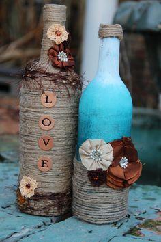 2 piece Twine Wine Bottle Set, beautiful!!
