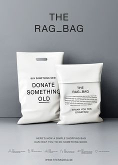 D&AD Awards 2015 Sustainable Packaging Design Graphite Pencil Winner from DDB Stockholm Sweden. Clothing Packaging, Fashion Packaging, Bag Packaging, Clothing Branding, Design Packaging, Coffee Packaging, Bottle Packaging, Product Packaging, Label Design