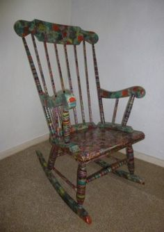 decoupage chair with old sheet music - Google Search