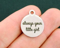 Thank You Stainless Steel Charm thank you for by BohemianFindings