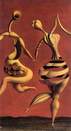 Rudolf Hausner – 'Aporisches Ballett', 1946, Ausschnitt