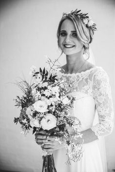 8f03c2181f Choosing your perfect bridal look and style can be a tricky decision. Read  how a recent real bride questions changed Britta s mind on her own wedding  hair.