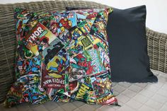 Marvel Comic Cushion Cover, Avengers Cushion, Superhero Cushion, Gifts for Geeks