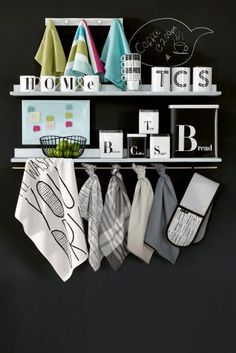 Add a personal touch to your kitchen with our monochrome alphabet collection.