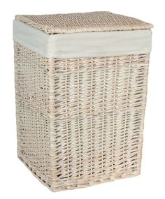 Full white wash finish willow with a removable cotton lining and integral handles Various sizes available Hamper, Laundry Basket, Shopping, Home Decor, Decoration Home, Room Decor, Home Interior Design, Basket, Laundry Hamper