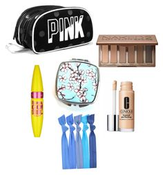 """What's in my makeup bag//tag"" by heyitzlo ❤ liked on Polyvore featuring beauty, Urban Decay, Maybelline and Clinique"