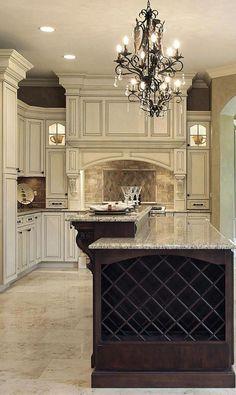 Luxurious Tuscan Kitchen Design For Inspiration - luxury kitchen Tuscan Kitchen Design, Country Kitchen Designs, Beautiful Kitchen Designs, Best Kitchen Designs, Beautiful Kitchens, Kitchen Ideas, Kitchen Decor, Kitchen Inspiration, Diy Kitchen
