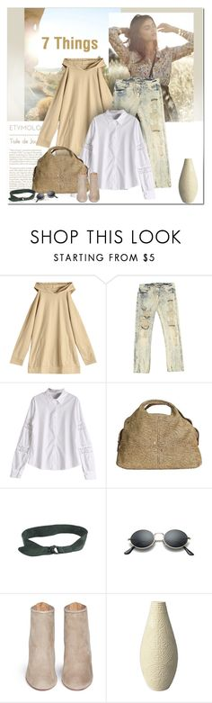 """""""7 Things"""" by undici ❤ liked on Polyvore featuring H&M, Ermanno Scervino, Borbonese, Aquazzura and SONOMA Goods for Life"""