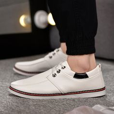 4ca1c8fd91a06f Mens casual faux leather slip-on canvas shoes for the trendy men - Trendy
