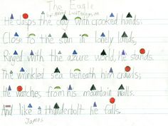 montessori grammar symbols - an example for an English poetry