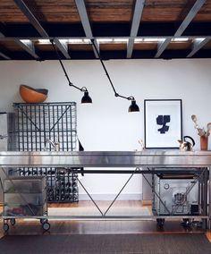 Designer Stahl-Pendelleuchte (verstellbar) 302 BL-SAT La Lampe Gras