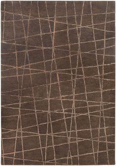 Oslo Brown Lines Modern Christopher Fareed Rug
