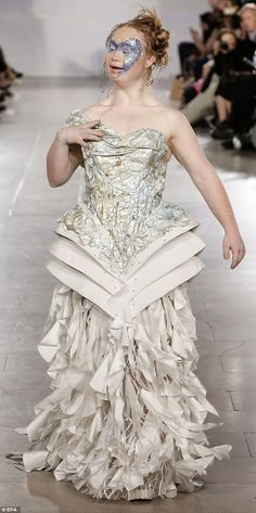 Defining moment: Brisbane model Madeline Stuart, who lives with Down Syndrome, made a statement on the FTL Moda runway