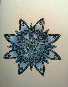 #mandala #blue #flower #selfmade