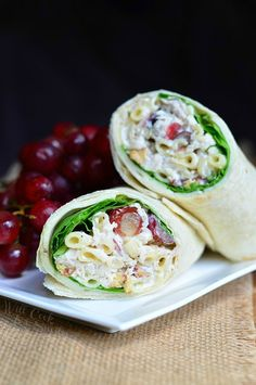 Chicken Deluxe Salad Wrap | from willcookforsmiles.com