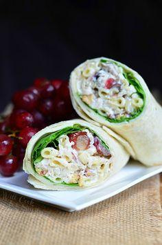 Chicken Deluxe Salad Wrap   from willcookforsmiles.com
