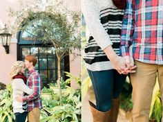 Mills House Engagement Photos | Catherine Ann Photography
