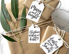 Scandi, Boho, Minimalist Printable Christmas Gift Tags Digital Download