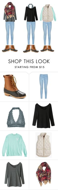 """How to wear duck boots"" by niamhbrid on Polyvore featuring Merona, 7 For All Mankind, Free People, J.Crew, women's clothing, women, female, woman, misses and juniors"