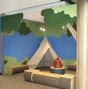 Things to Consider before Making Kids Playground Design Classroom Design, Classroom Themes, Classroom Camping Theme, Sunday School Rooms, Preschool Rooms, Church Nursery, Kids Church Rooms, Kids Church Decor, Church Ideas