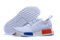 new product 33d20 c7750 Men s Shoes Adidas Originals NMD White Orange And Blue