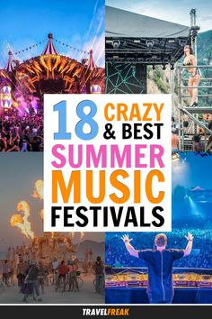 Summer music festival season is finally here—you just have to figure out how many you can attend before winter comes! Check out this guide to the 18 craziest summer music festivals around the world: from the most famous such as Coachella and Tomorrowland to some less known ones (Exit in Novi San, anyone?), you're sure to find the ones perfect for your summer bucket list! #summervibes #musicfestival #summerfun #summerbucketlist - via @travelfreak