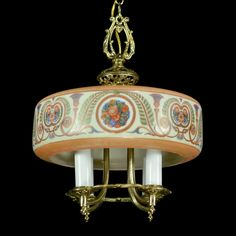 Clever Antique Art Deco Caramel Slag Glass Globe For Hanging Ceiling Light 1930 Always Buy Good Collectibles Periods & Styles