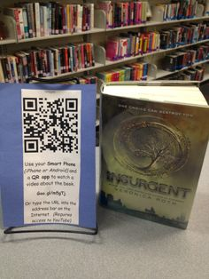 I created these in a high school library I visited during my student teaching experience. This idea is directly taken from a pin on pinterest. It did actually create buzz and students started checking these books out!