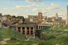 "Christoffer Wilhelm Eckersberg ""View of the Cloaca Maxima, Rome,"" 1814"