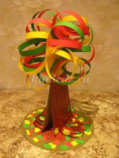Объемная аппликация из цветной бумаги по теме Осень для детей 4-7 лет