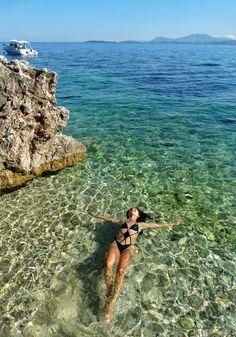 Ne-am cumpărat plajă! Și o mare de cărți poștale |  #Corfu #Island #secretplaces #calzedonia #swimsuit #traveler #style #trip #europe #CrisJourneys #TheRoadToSummer Donia, Corfu, Swimwear, Bathing Suits, Swimsuits, Costumes, Swimsuit