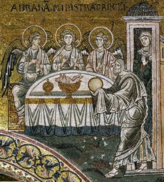 The Hospitality of Abraham (The Trinity) 1180s, mosaic, Monreale Cathedral, Monreale