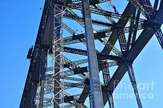 #ARCH #CONSTRUCTION - #SYDNEY #HARBOUR #BRIDGE - Quality Prints & Cards at: http://kaye-menner.artistwebsites.com/featured/arch-construction-sydney-harbour-bridge-kaye-menner.html  -