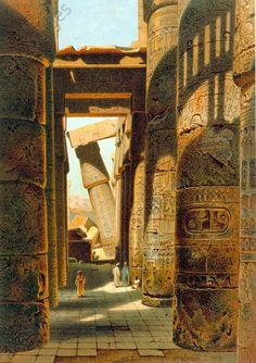 Ruinas do templo de Karnak