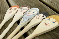 Educarpetas: Accesorios para contar cuentos: marionetas con cucharas de madera