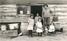 Moses Antoine, his wife Kate Antoine, and their three children including Lucille Antoine, at Grayling, Michigan - Ottawa – 1912 Grayling Michigan, Otsego Lake, Houghton Lake, Indian River, Indian Heritage, Historical Pictures, Great Lakes, Three Kids, First Nations