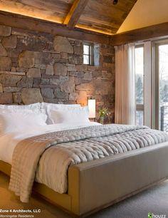 Love behind bed wall and big windows/sliding doors