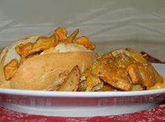 Always Savory : Buffalo Chicken Cheese Steaks w/ Homemade cheese Fries