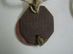 WW2 CANADA MILITARY DOG TAGS CANADIAN WAR ~ NAME: STAINSBY | eBay Dog Tags Military, Happy Parents, Ww2 Photos, Remembrance Day, Baby Animals, Magazines, Canada, War, Dogs