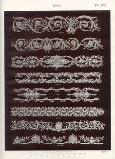 Border Pattern, Pattern Art, Clock Decor, Art Decor, Decorative Mouldings, Plaster Mouldings, Plaster Molds, Carving Designs, Luxury Decor